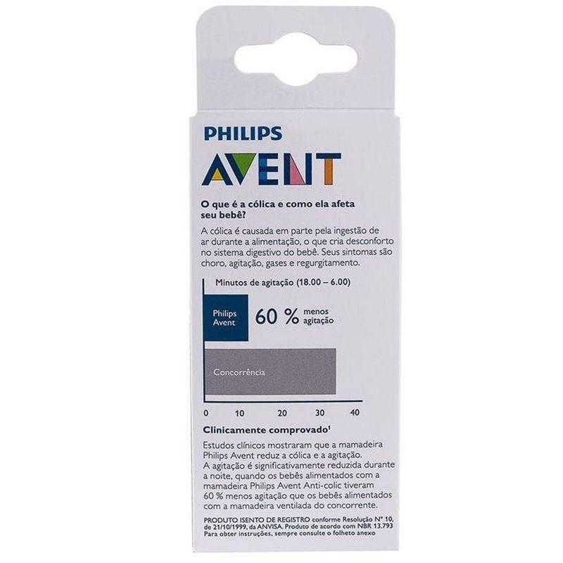 Mamadeira Clássica - Anti Cólica - 125 ml - (+ 0 meses) - Transparente - Philips Avent