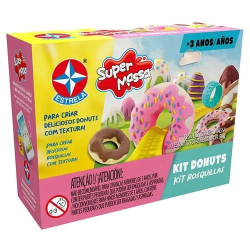 Massa de Modelar - Super Massa - Kit Donuts - Estrela