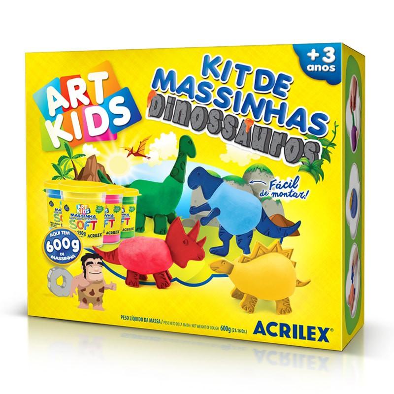Kit de Massinha de Modelar - Dinossauros - Acrilex