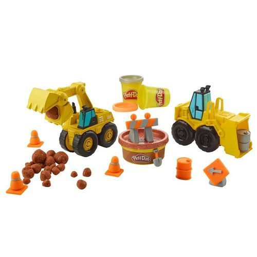 Massinha Play-Doh Wheels - Escavadeira e Carregadeira - Hasbro