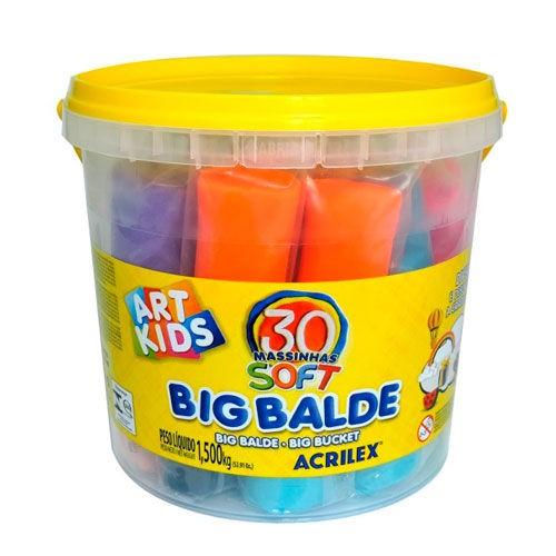 Massa para Modelar - Big Balde - Com 30 Massinhas - 1,5 Kg - Acrilex