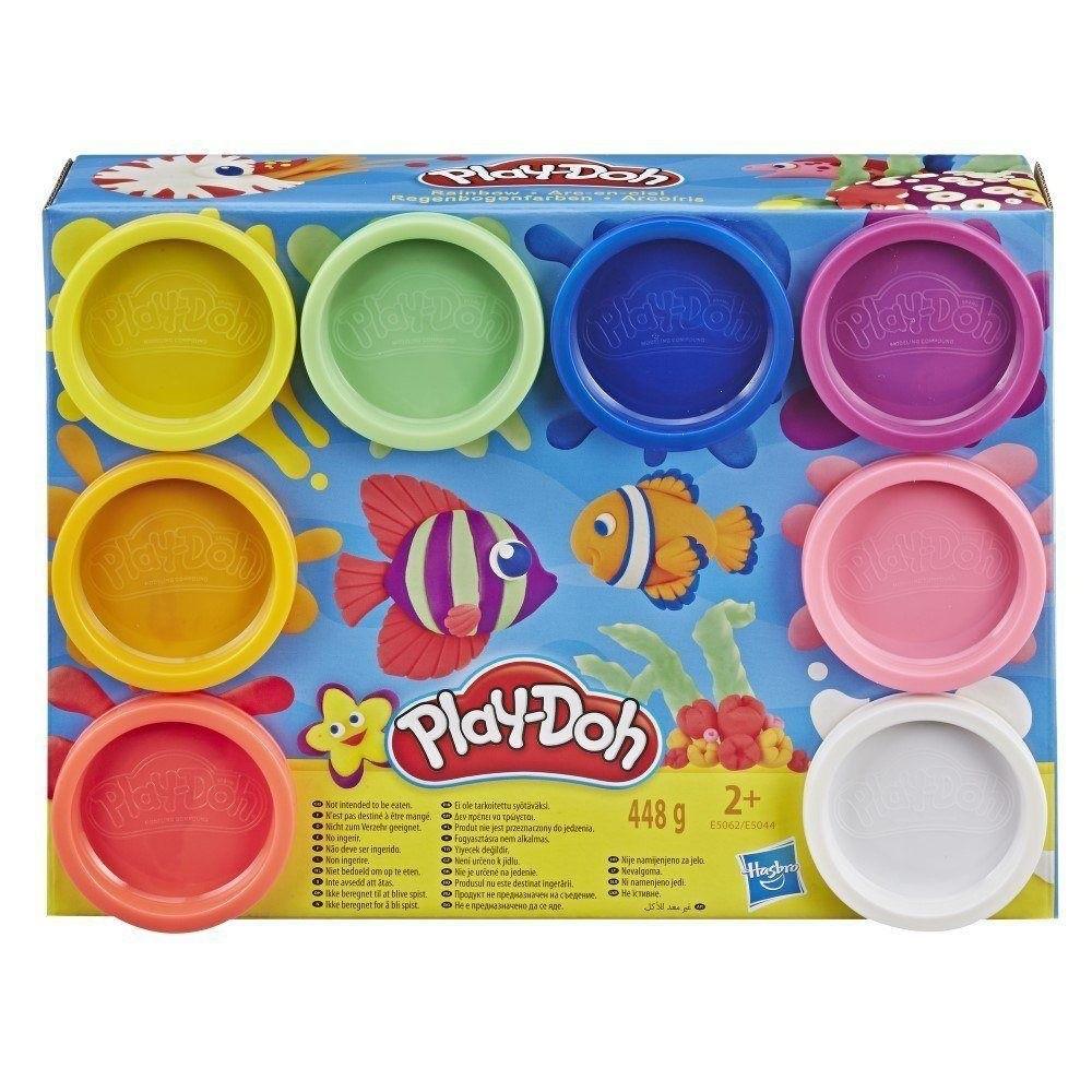 Massinhas Play-Doh - 8 Potes - Cores do Arco-Íris - Hasbro