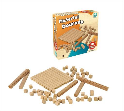 Material Dourado - Pedagógico - 111 Peças - Nig Brinquedos