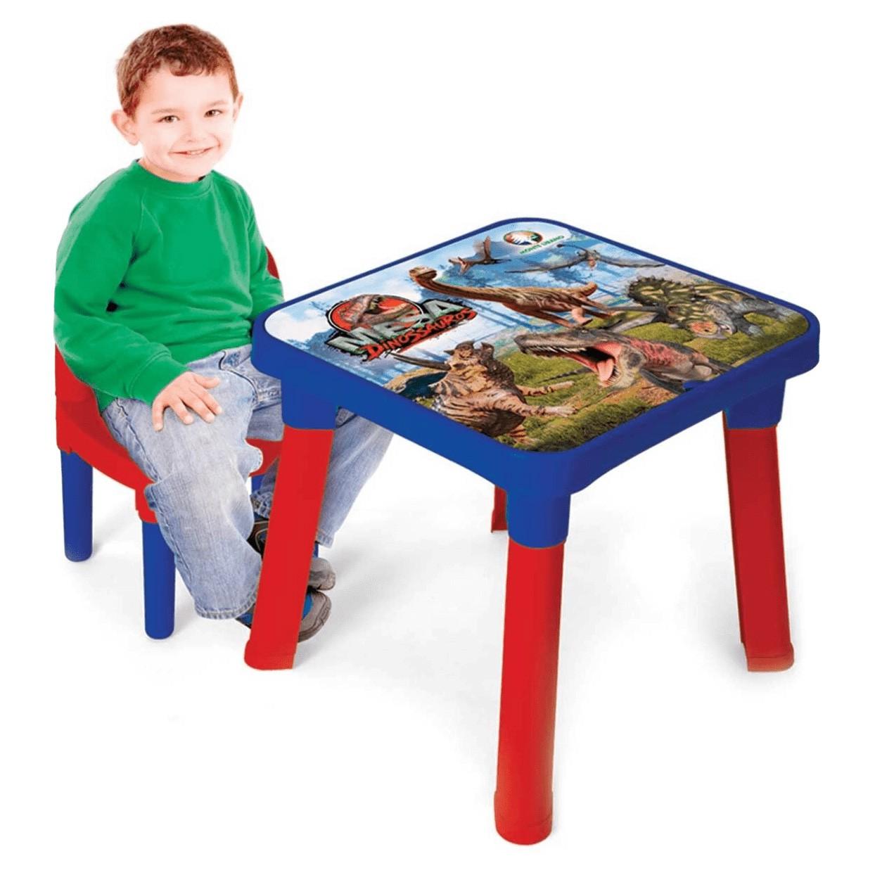 Mesa Infantil Com Cadeira - Dinossauros - Monte Líbano