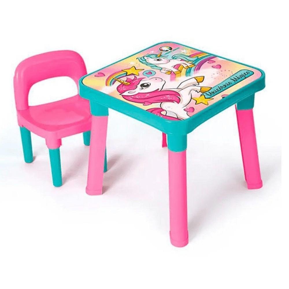Mesa Infantil Com Cadeira - Unicórnio Mágico - Monte Líbano