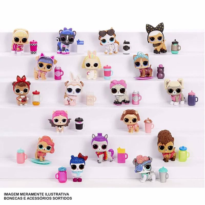 Mini Boneca Surpresa - LOL Surprise - Fluffy Pets - 9 Surpresas – Candide