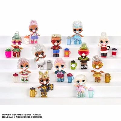 Mini Boneca Surpresa - LOL Surprise - Glitter Globe - Winter Disco - 8 Surpresas – Candide