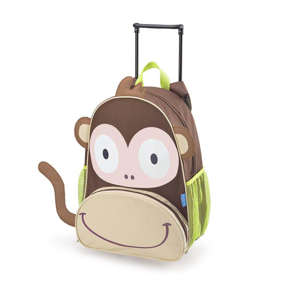 Mochila com Rodinhas - 2 em 1 -  Macaco - Multikids