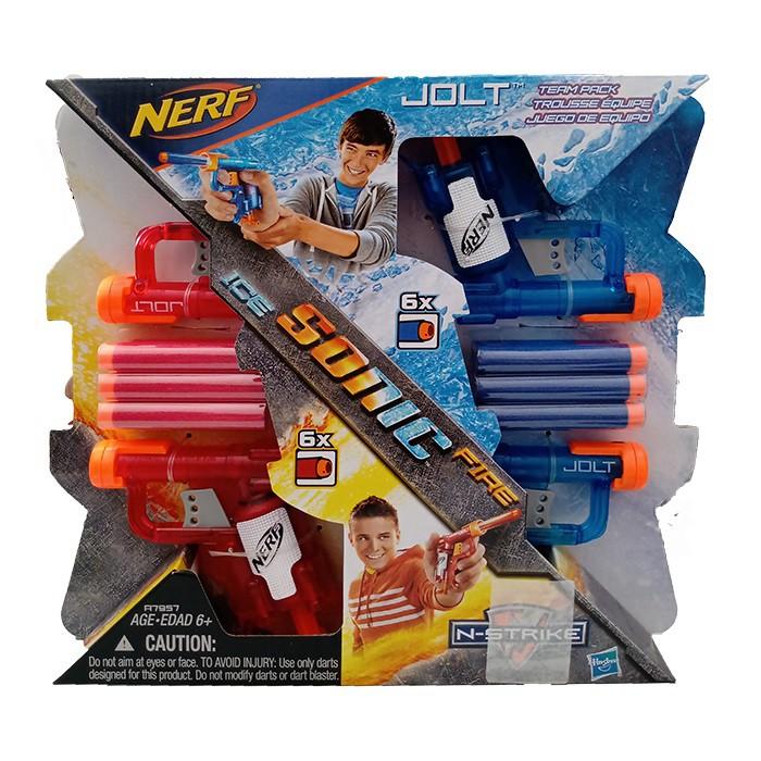 Lançador de Dardo - Nerf N-Strike - Sonic Fire e Ice - 4 Lançadores - Hasbro