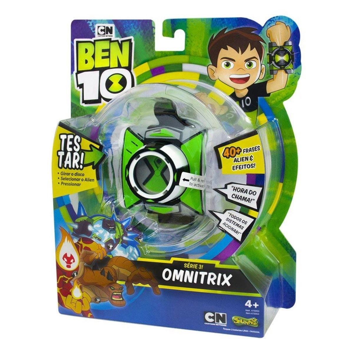 Omnitrix Com Luzes e Sons - Ben 10 - com 40 frases - Sunny