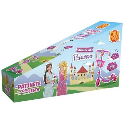 Patinete Sonho de Princesa - DM Toys