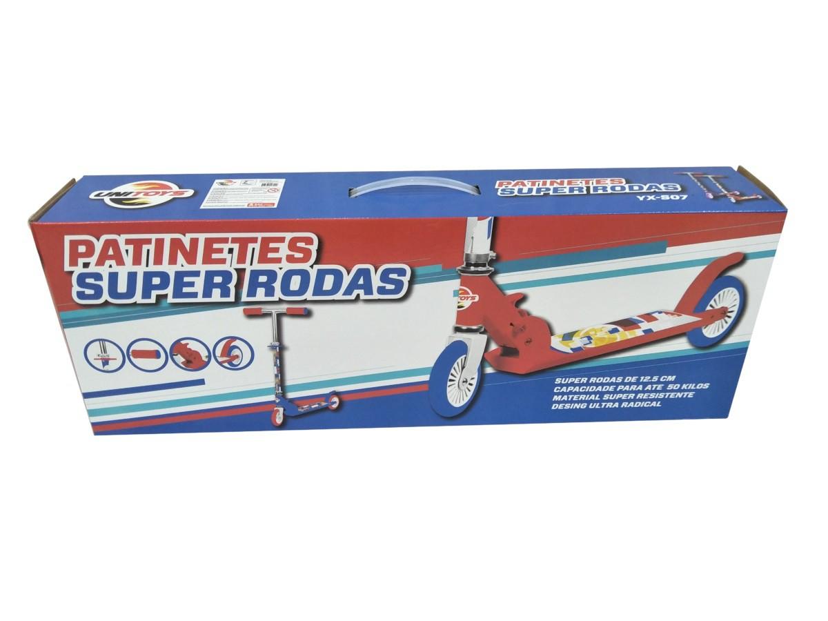 Patinete - Super Rodas - Vermelho - Unitoys