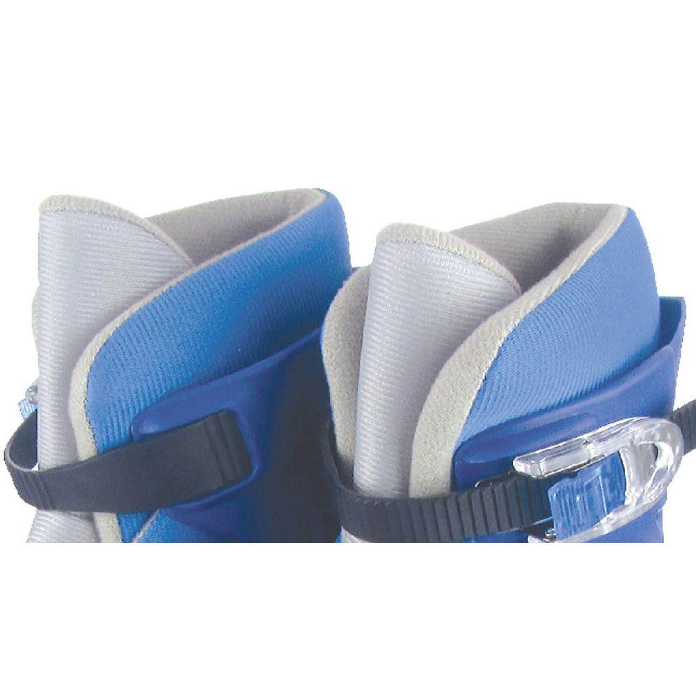 Patins Ajustável - In-line - Azul e Prata - 38 a 41 - Fênix