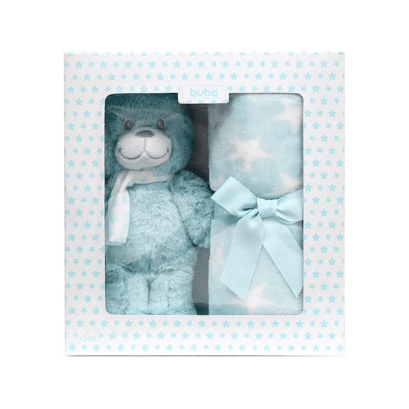 Pelúcia - Gift - Ursinho Star - Azul - Buba