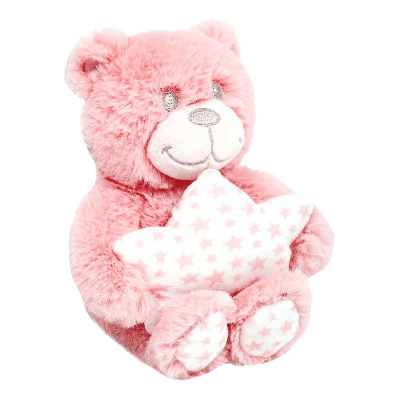 Pelúcia - Ursinho Star - Rosa - Buba