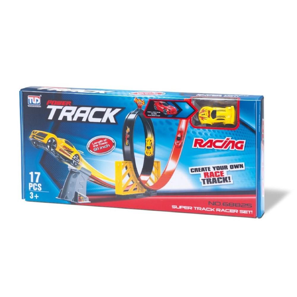 Pista De Carrinho Com Looping - Super Track Racer Set - Samba Toys