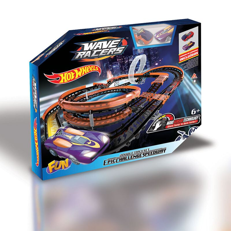 Pista Hot Wheels - Wave Racers - Desafio Épico - Fun
