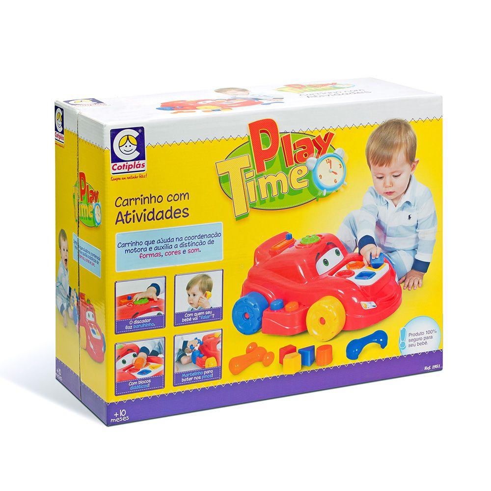 Carrinho com Atividades - Play Time - Cotiplás