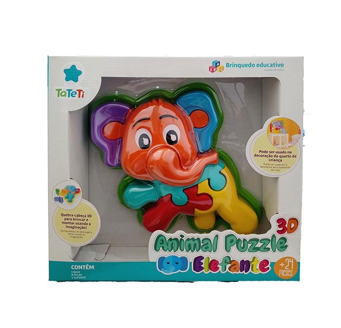 Quebra-Cabeça 3D - Animal Puzzle - Elefante - Ta Te Ti - Calesita