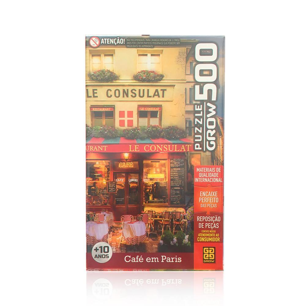 Quebra-Cabeça - Café em Paris - 500 peças - Grow
