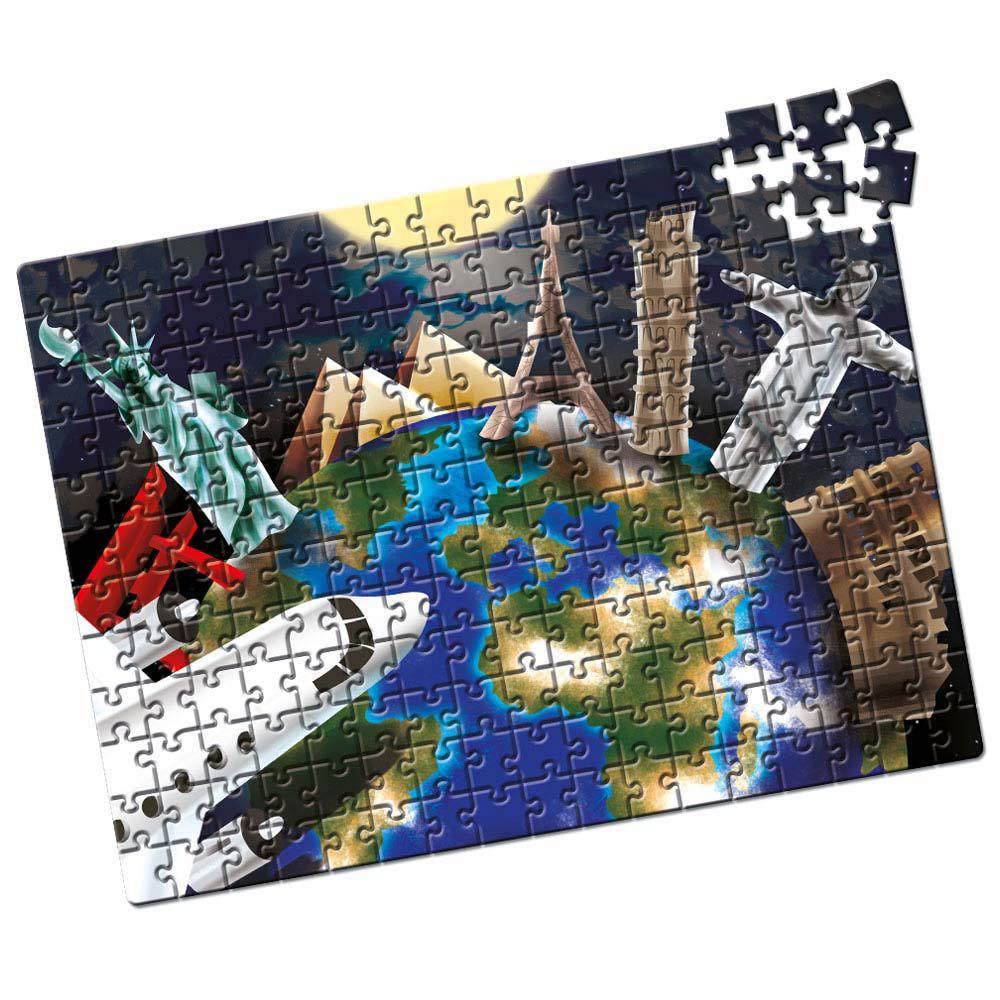 Quebra-Cabeça Capitais do Mundo - 200 Peças - Estrela