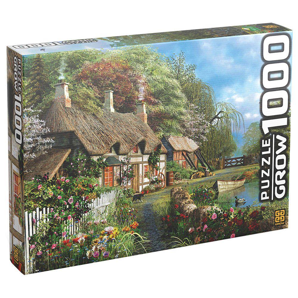 Quebra-Cabeça - Casa no Lago - 1000 Peças - Grow