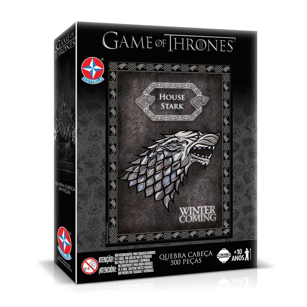 Quebra-Cabeça - Casa Stark - Game of Thrones - 500 Peças - Estrela