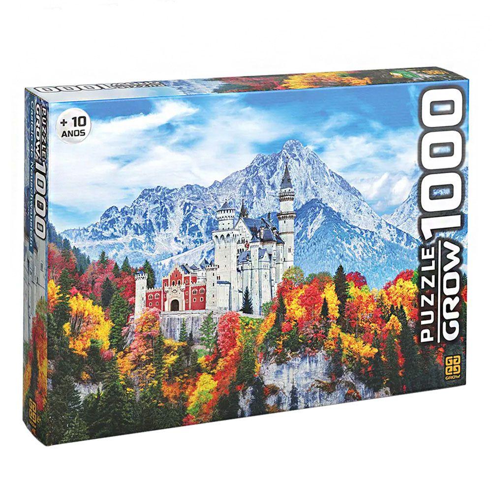 Quebra-Cabeça - Castelo de Neuschwanstein - 1000 Peças - Grow