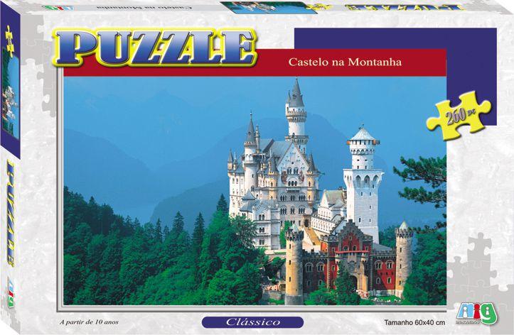 Quebra-Cabeça - Castelo na Montanha - 260 Peças - Nig Brinquedos