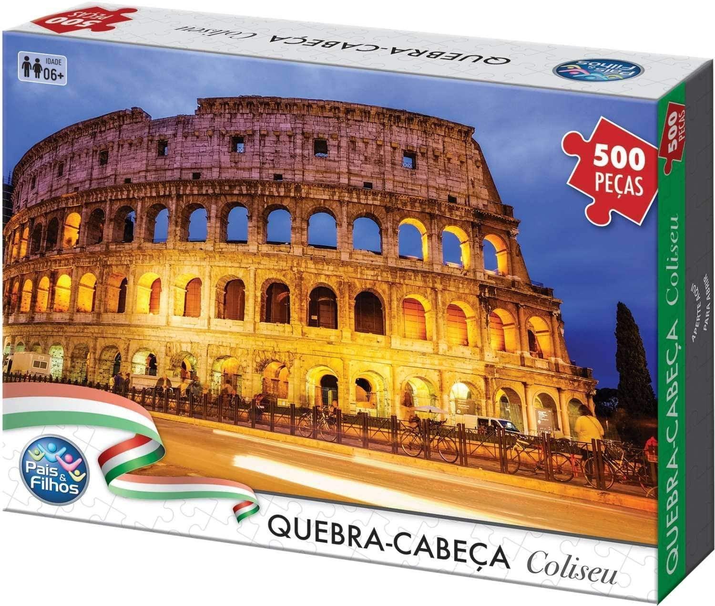 Quebra-Cabeça - Coliseu - 500 peças - Pais e Filhos