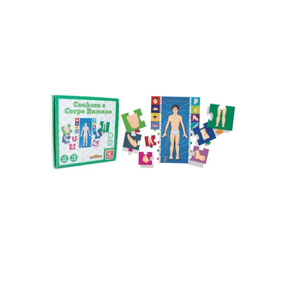 Quebra-Cabeça - Conheça o Corpo Humano - Em Madeira - Brincadeira de Criança