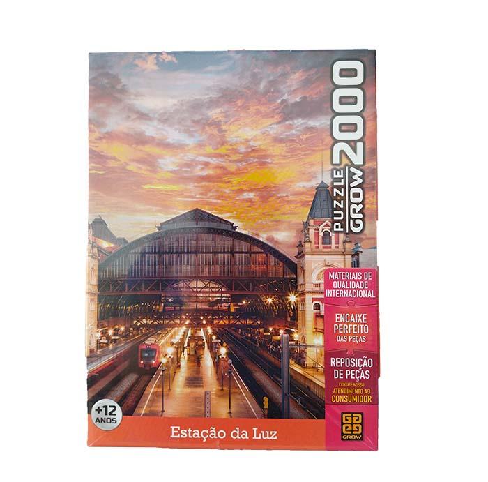 Quebra-Cabeça - Estação da Luz - 2000 peças - Grow