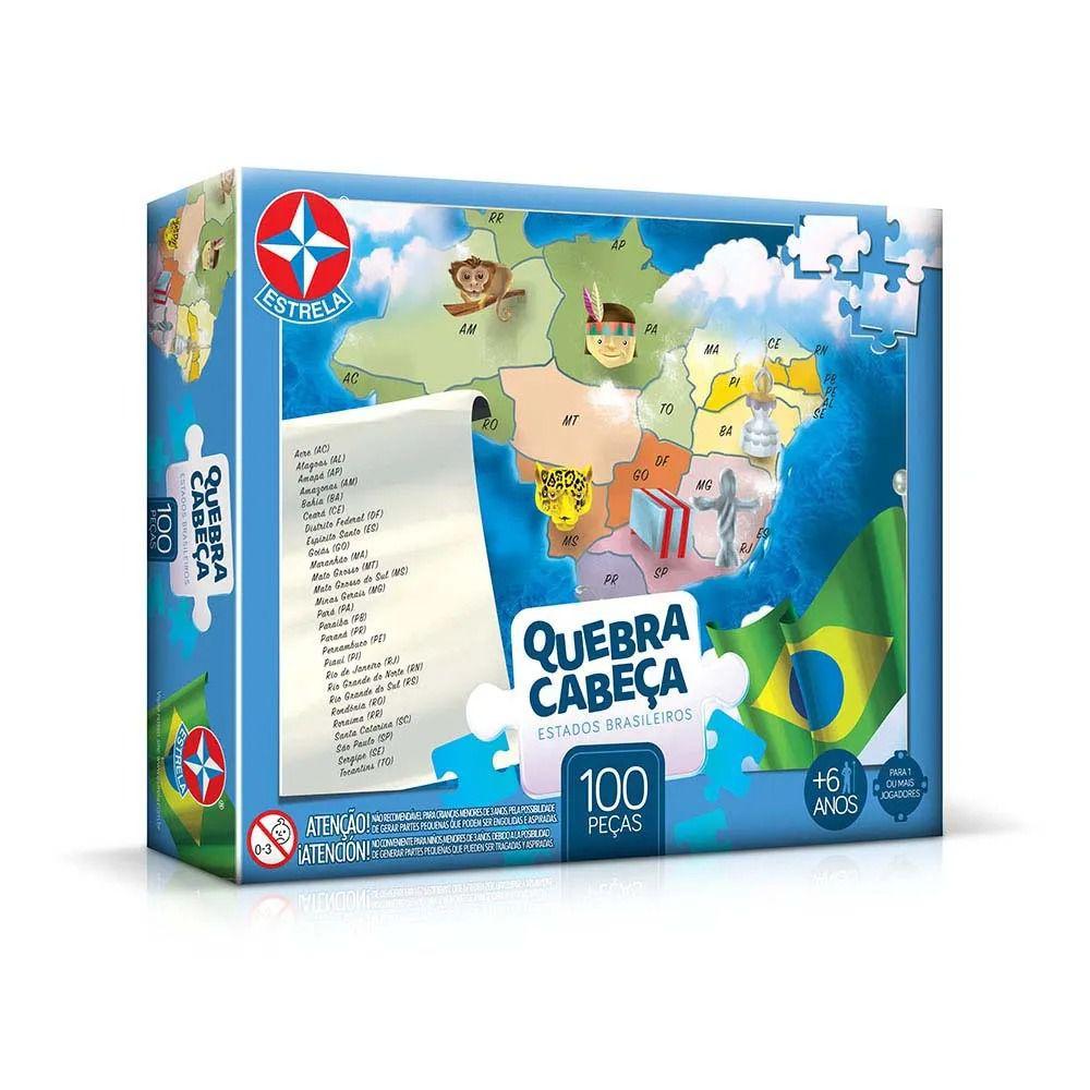 Quebra Cabeça - Estados Brasileiros 100 peças. - Estrela