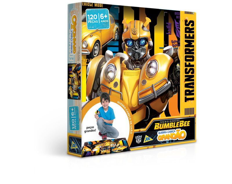 Quebra-Cabeça Grandão - Transformers - Bumblebee - 120 Peças - Toyster