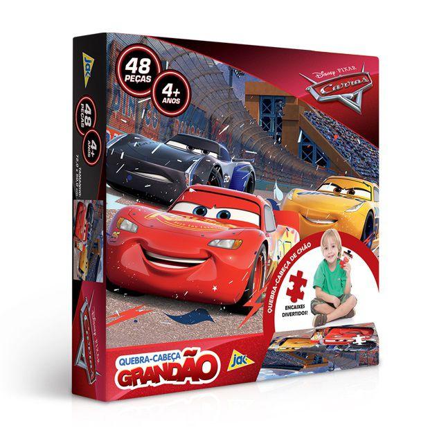 Quebra-Cabeça Grandão - Carros - 48 peças - Toyster