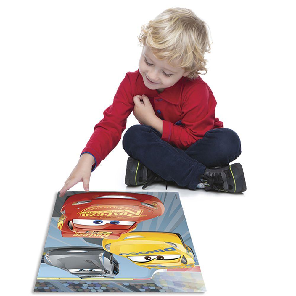 Quebra-Cabeça - Grandinho Metalizado - Carros - 28 peças - Toyster