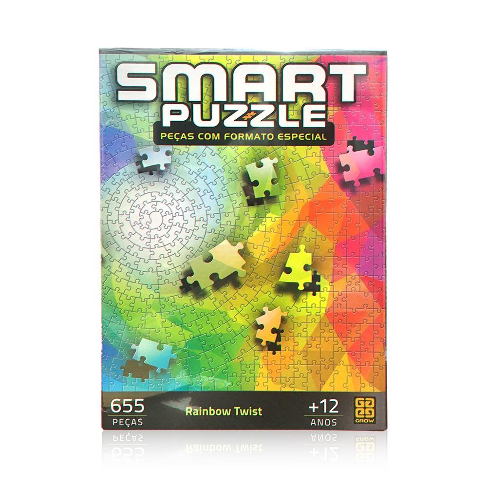 Quebra-Cabeça Inteligente - Rainbow Twist - 655 peças - Grow