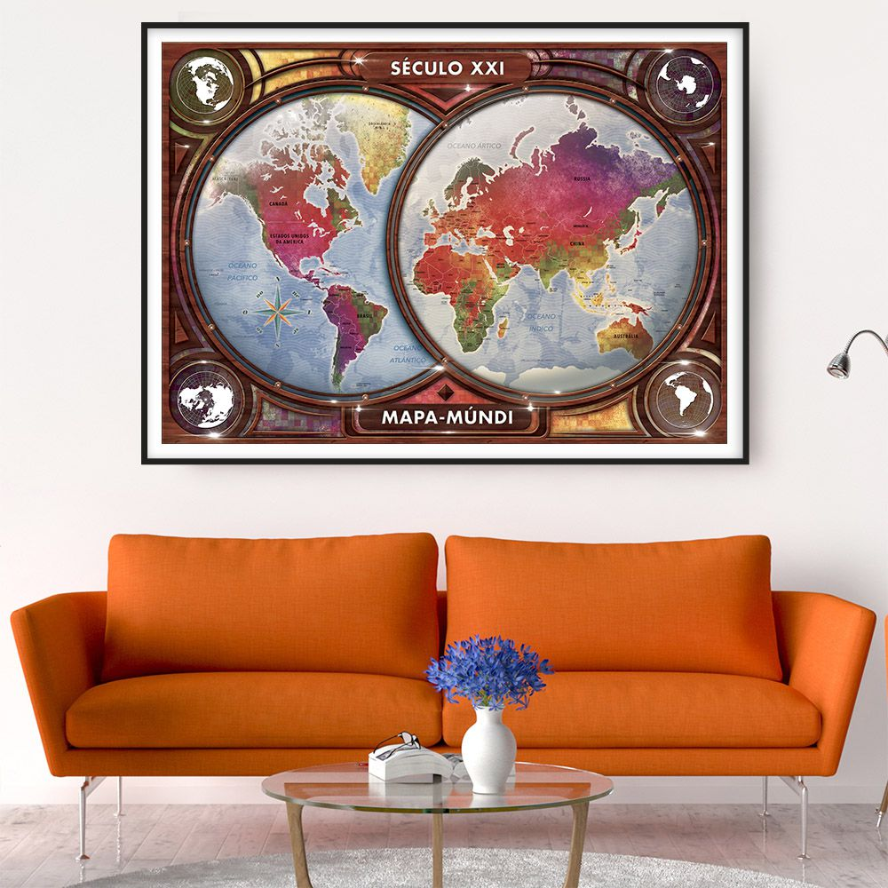 Quebra-Cabeça - Mapa-Múndi Século XXI - 4000 peças - Grow