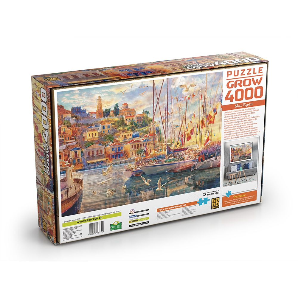 Quebra-Cabeça - Mar Egeu - 4000 peças - Grow