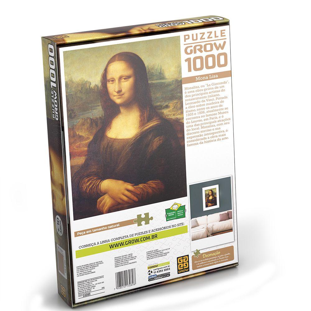 Quebra-Cabeça - Monalisa - 1000 peças - Grow