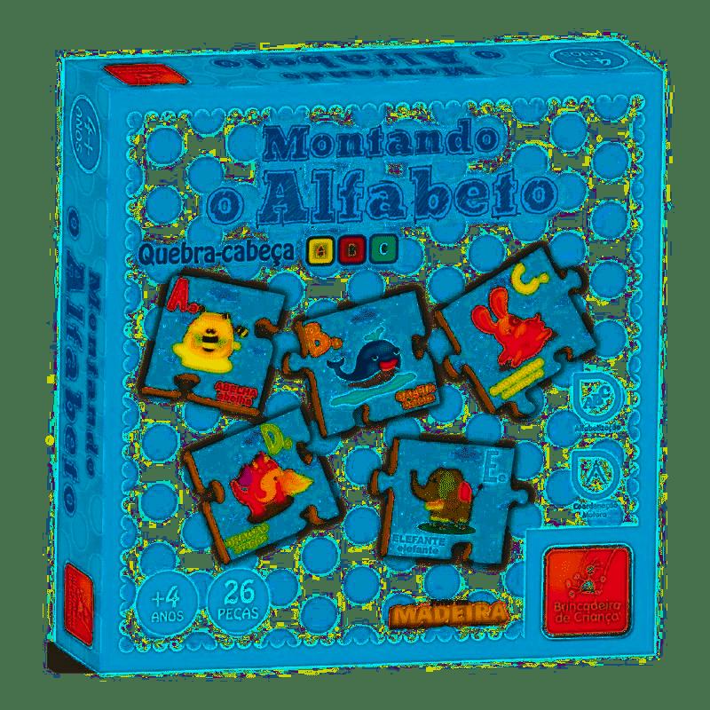 Quebra-Cabeça - Montando o Alfabeto - Brincadeira de Criança