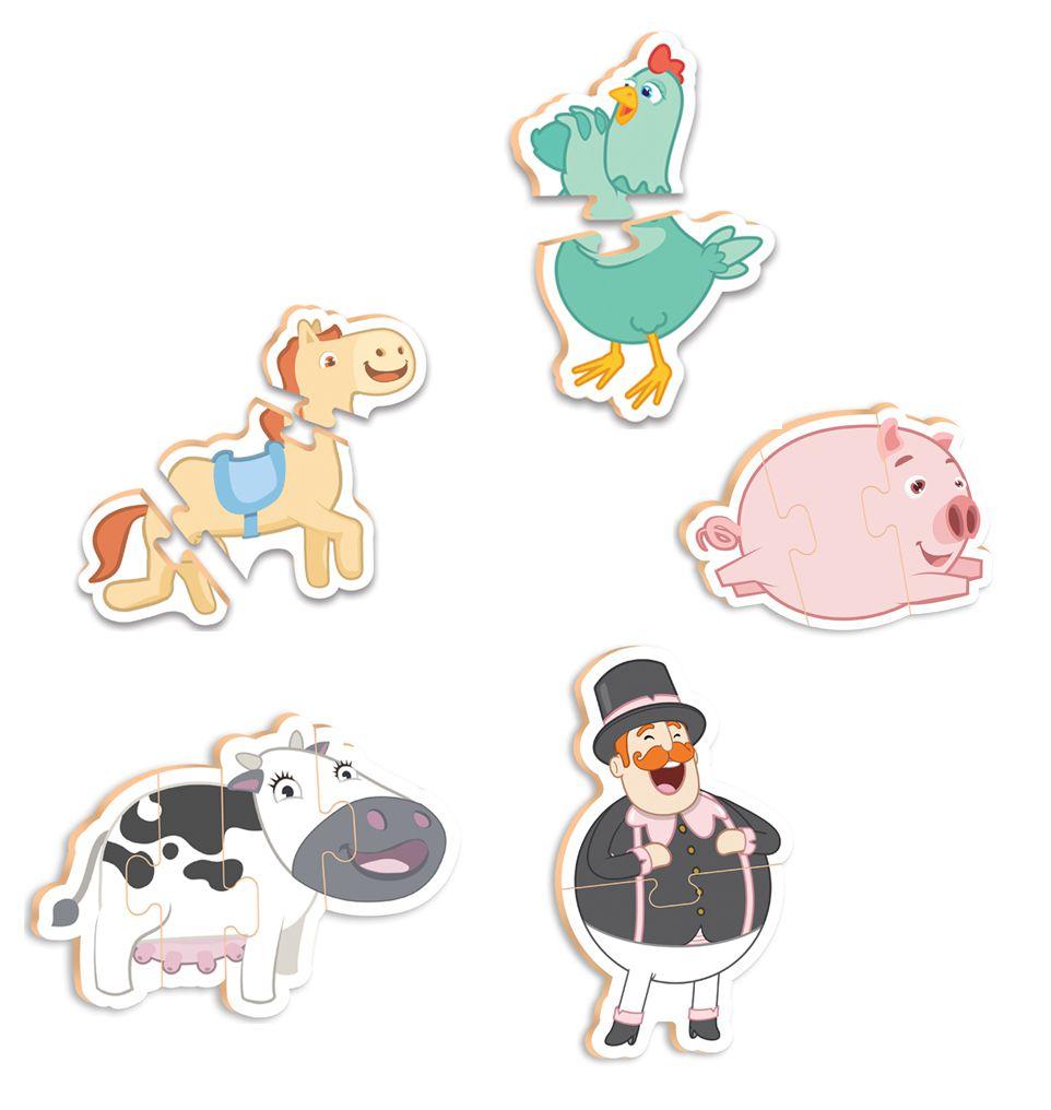 Quebra-Cabeça Baby - Bita e os Animais - 14 peças - Nig Brinquedos