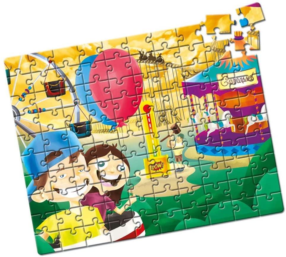 Quebra-Cabeça - Parque de Diversões - 100 peças - Estrela