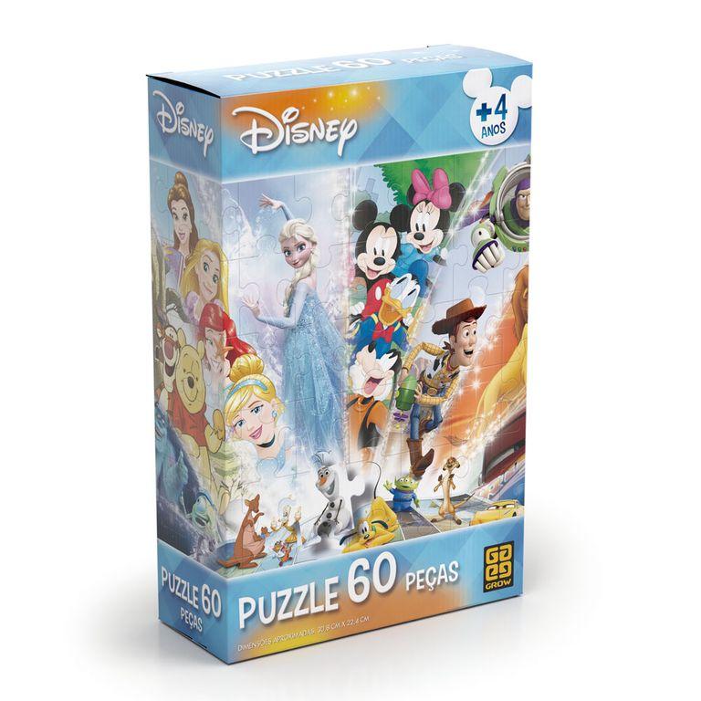 Quebra-Cabeça - Personagens Disney - 60 Peças - Grow
