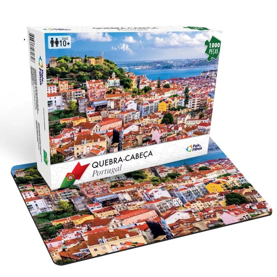 Quebra-Cabeça - Portugal - 1000 peças - Pais e Filhos