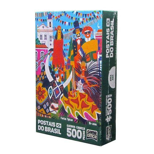 Quebra-Cabeça - Postais do Brasil - Festas Típicas - 500 Peças - Toyster