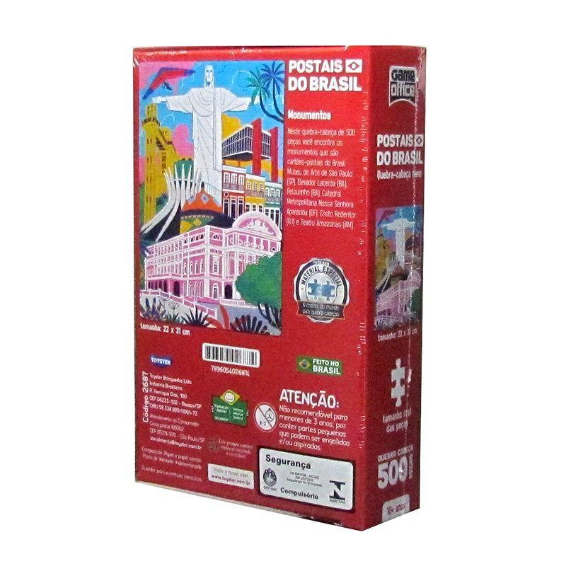 Quebra-Cabeça Postais do Brasil - Monumentos - 500 Peças - Toyster