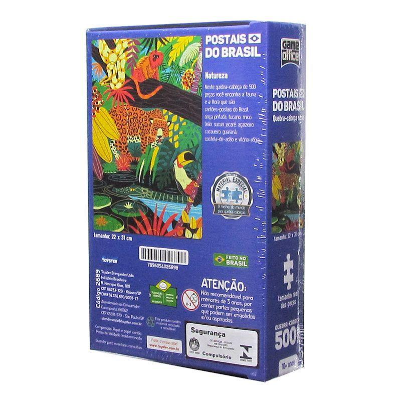 Quebra-Cabeça Postais do Brasil - Natureza - 500 Peças - Toyster