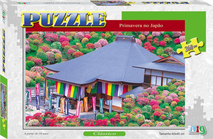 Quebra-Cabeça - Primavera no Japão - 260 Peças - Nig Brinquedos