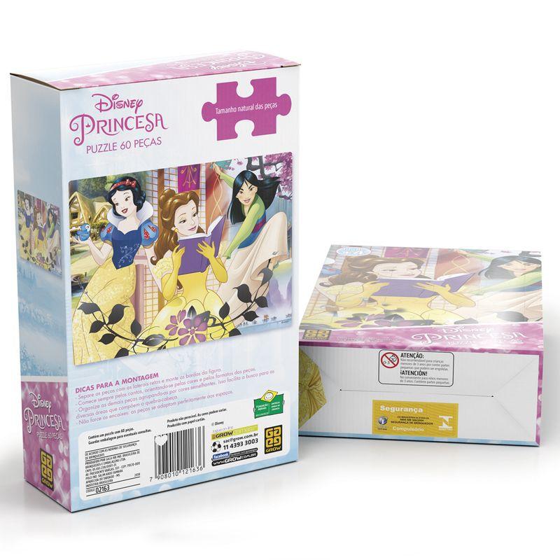 Quebra-Cabeça - Princesas Disney - 60 peças - Grow
